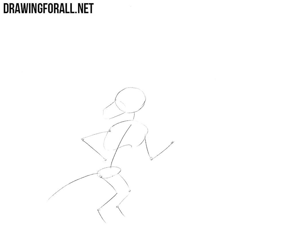 how to draw a Kobold