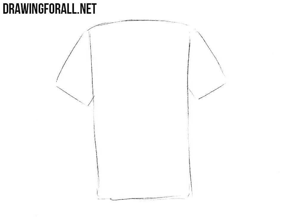 how to draw a t shirt