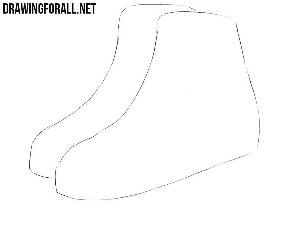 how to draw ice skates