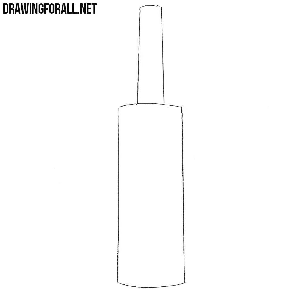 how to drawa Bottle