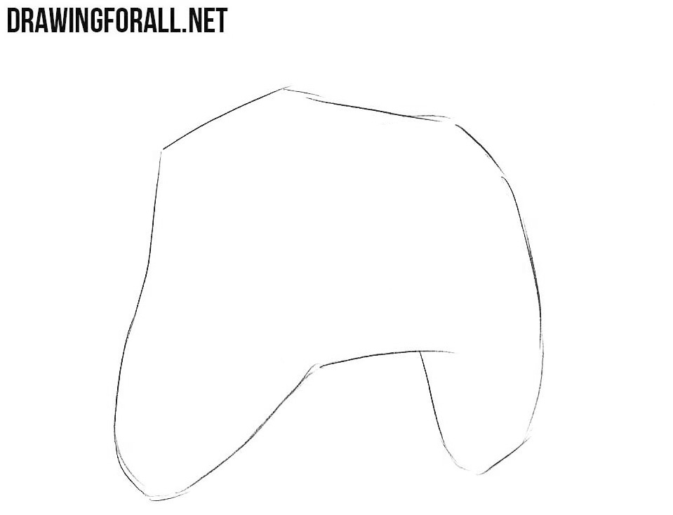 learn how to draw a xbox controller step by step