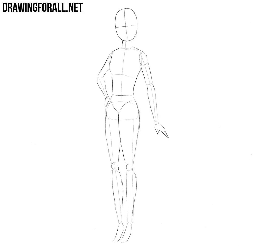 How to draw barbie step by step