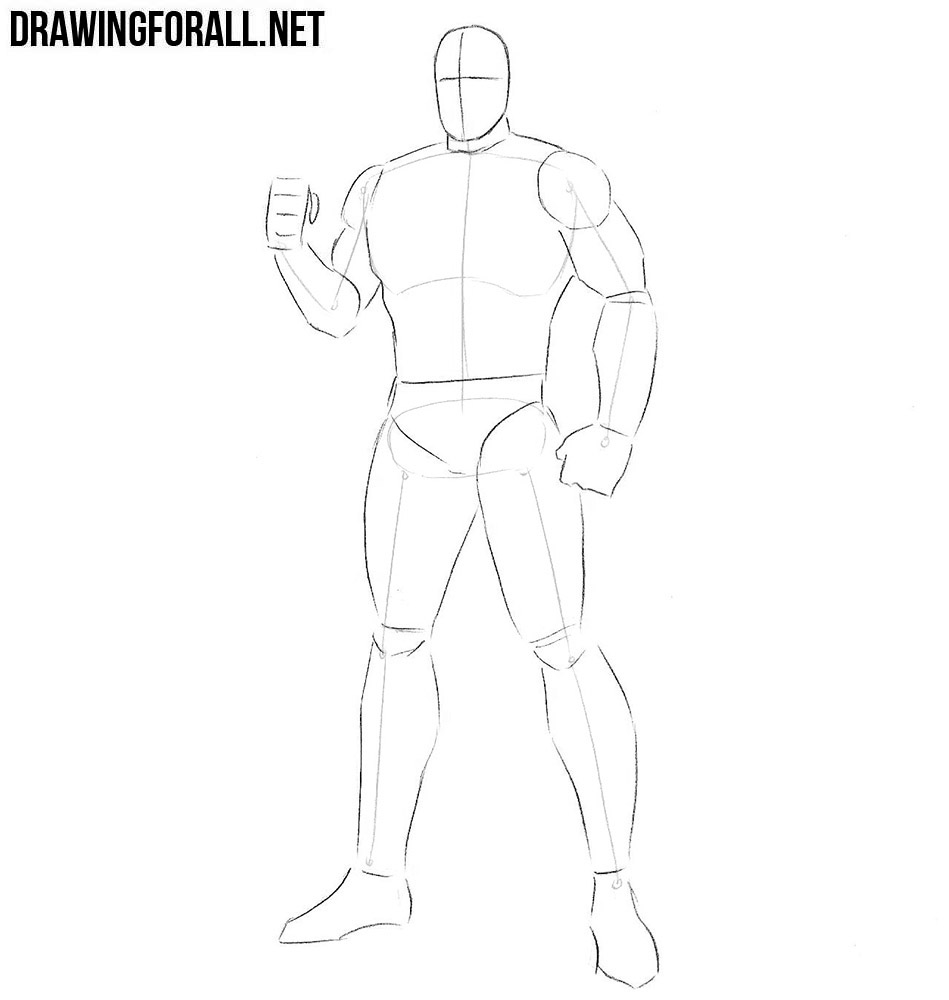 how to draw cybles from descendants step by step