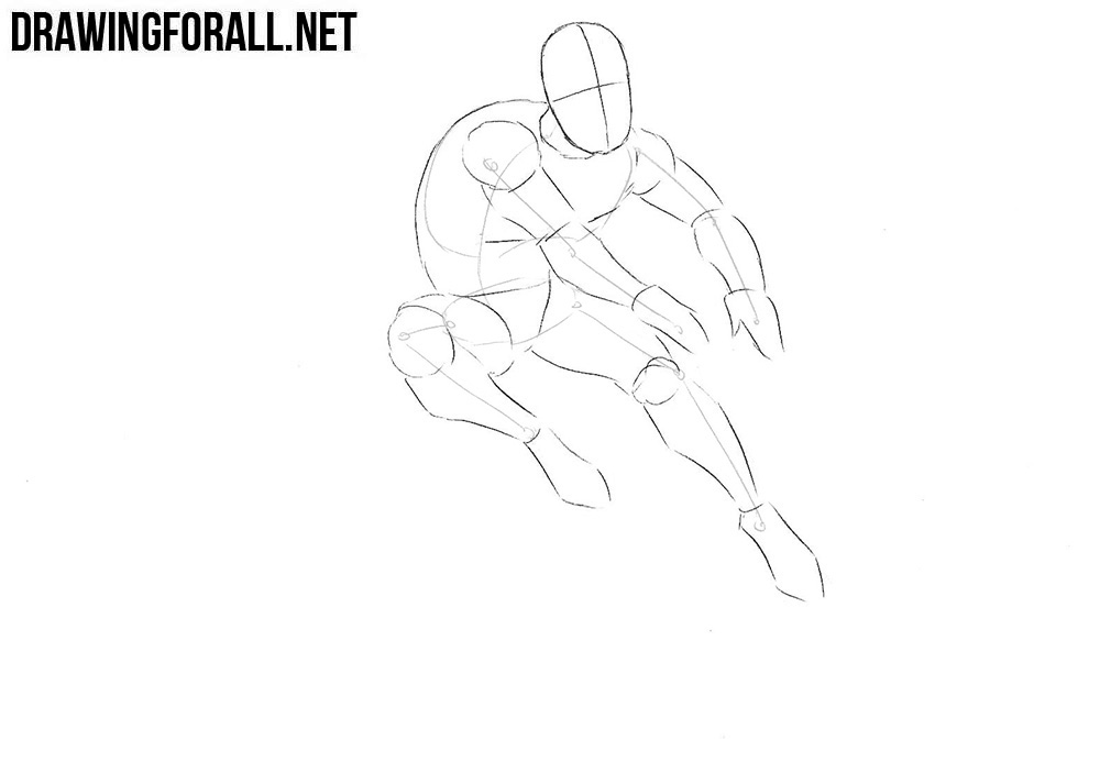how to draw Iceman from marvel