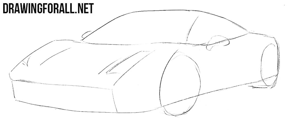how to draw a Ferrari 458 Italia step by step