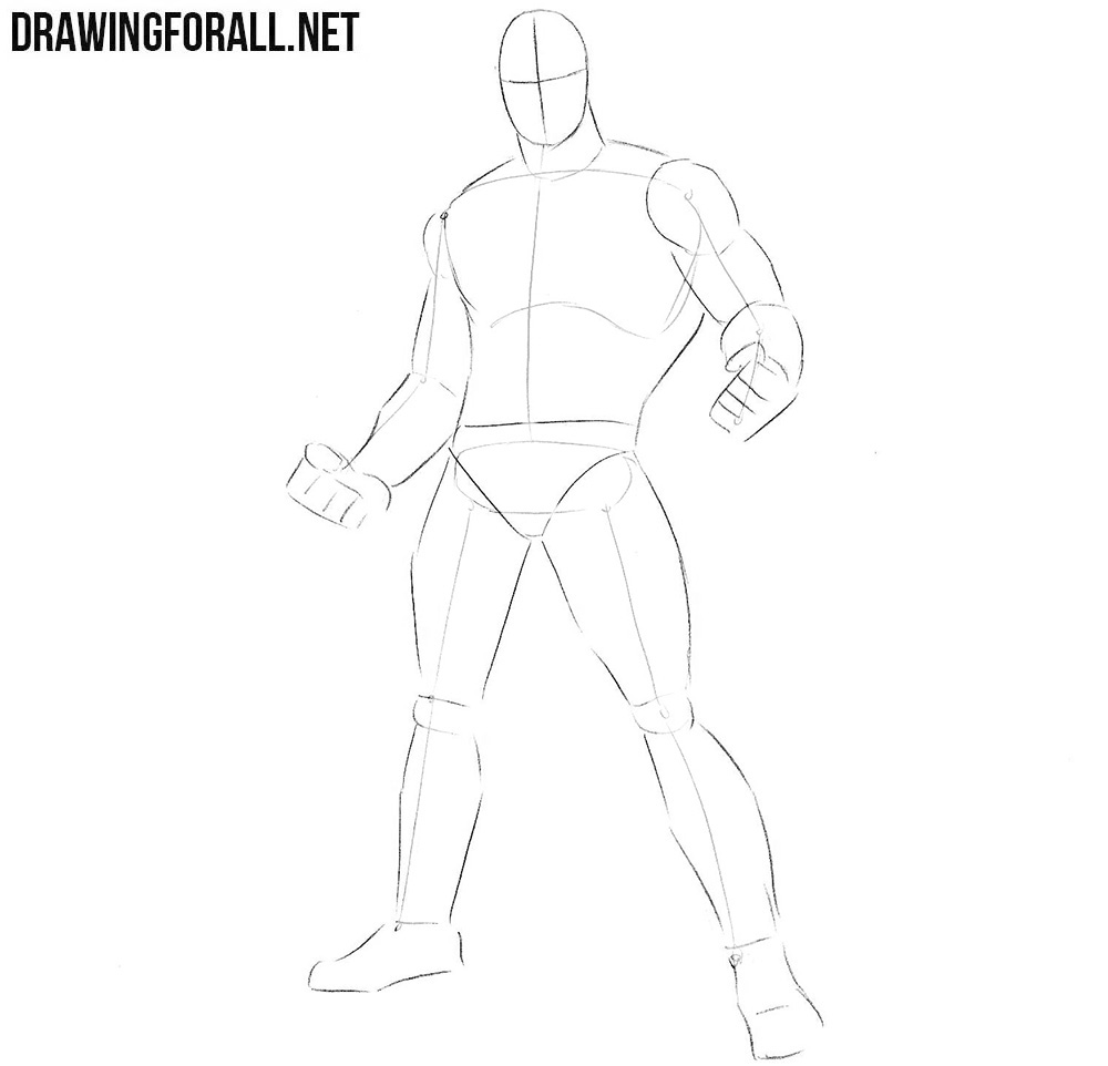 how to draw a marvel superhero