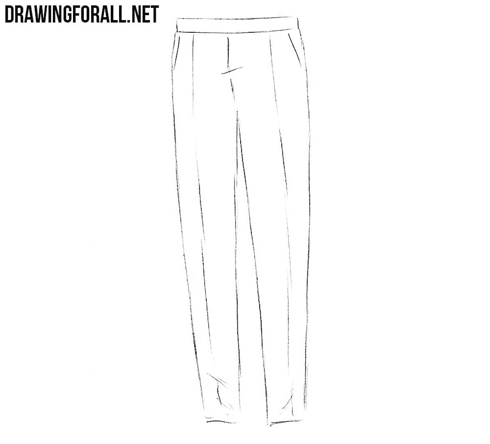 how to draw pants step by step