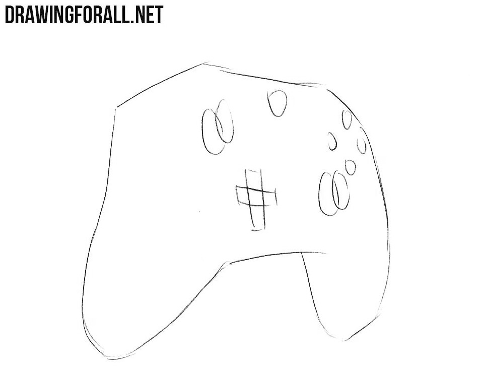 how to sketch an xbox controller