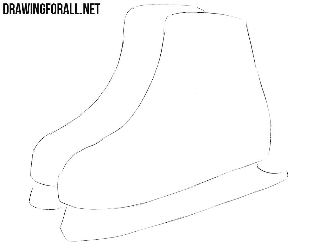 how to sketch ice skates