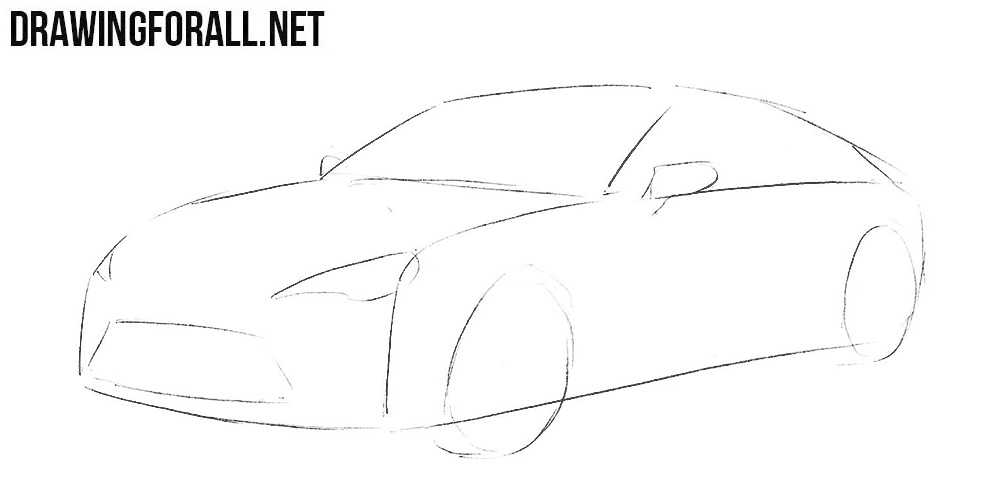 how to sketch out a subaru brz