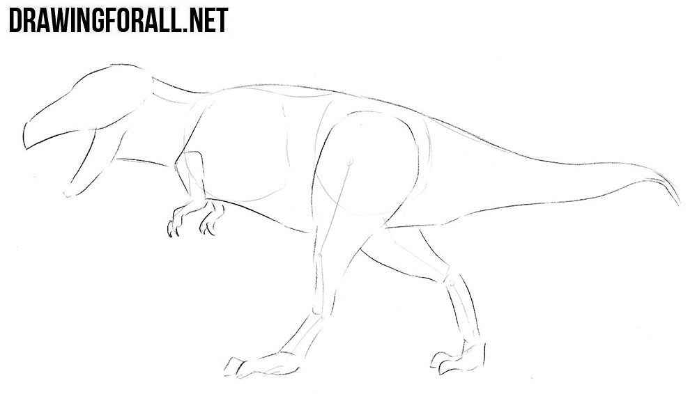 learn to draw a Tyrannosaurus