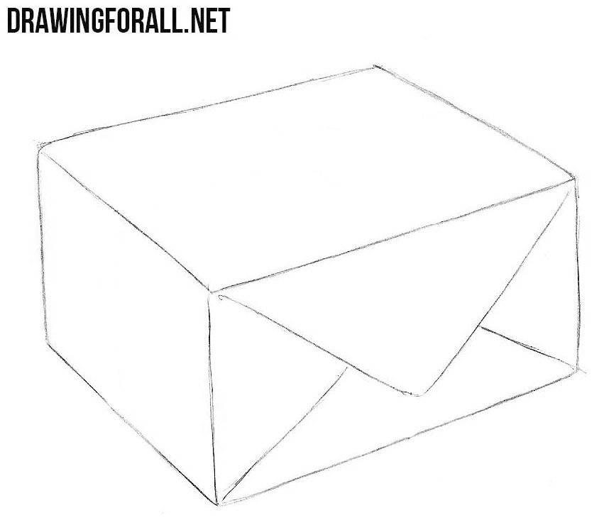 learn to draw a parcel step by step