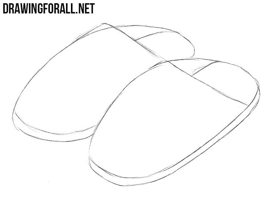 learn to draw slippers step by step