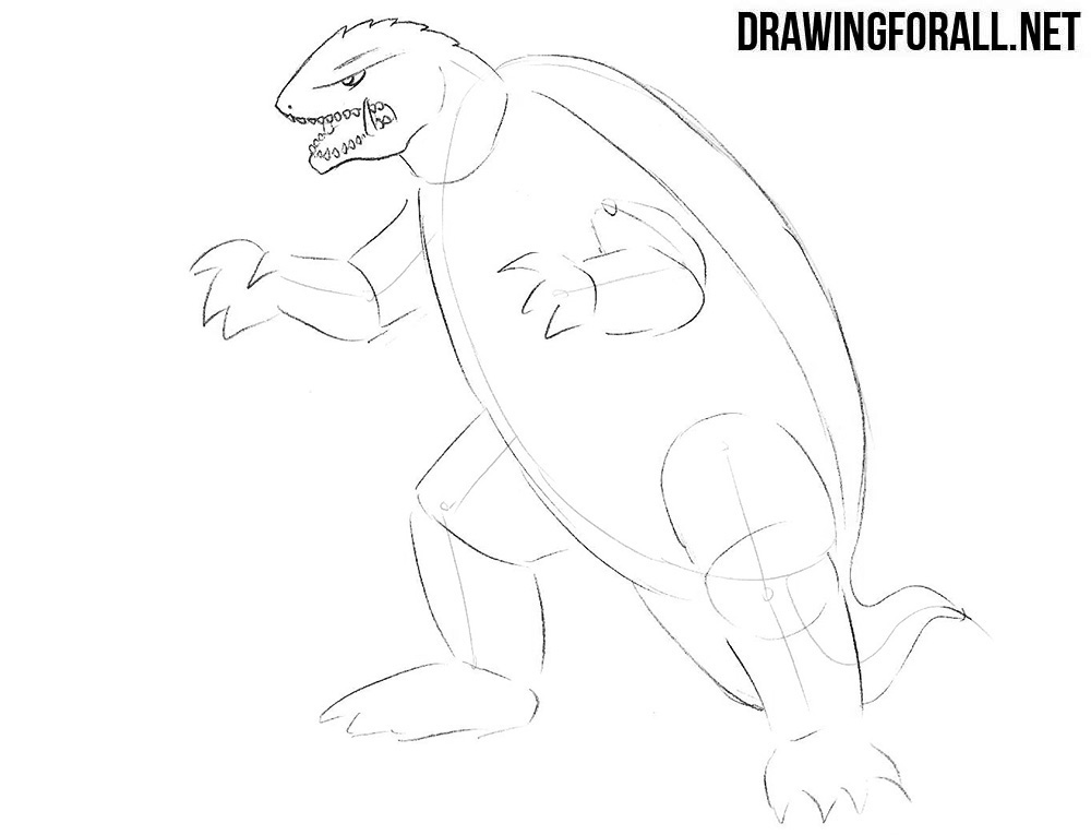 How to draw Gamera step by step