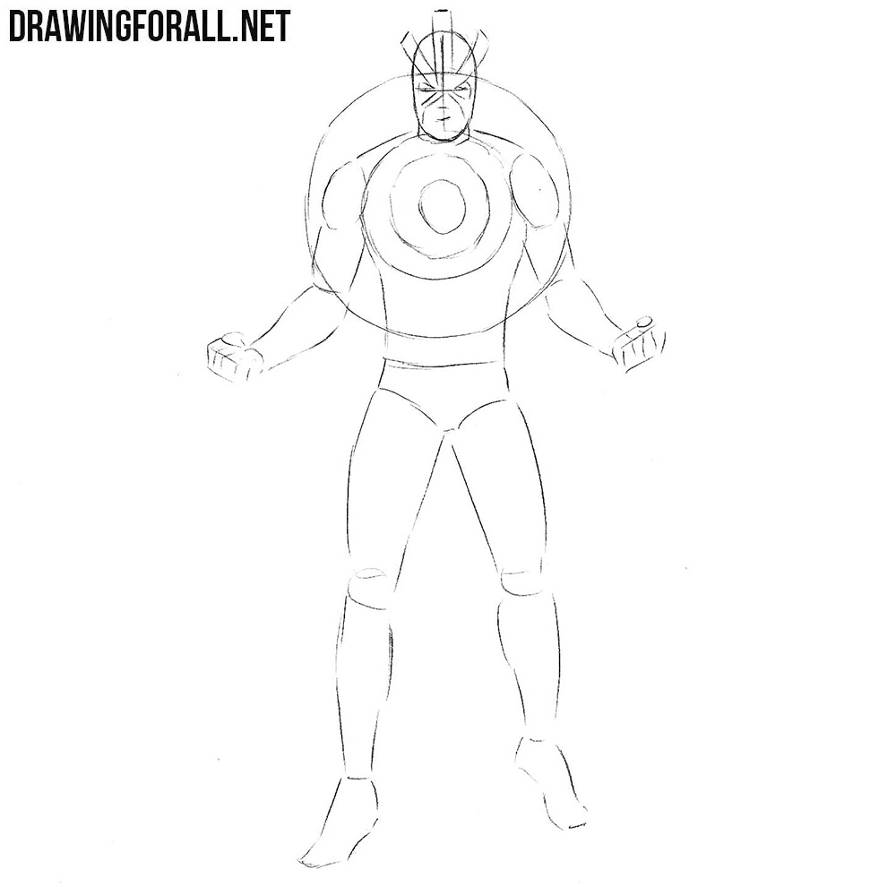How to draw Havok from marvel step by step