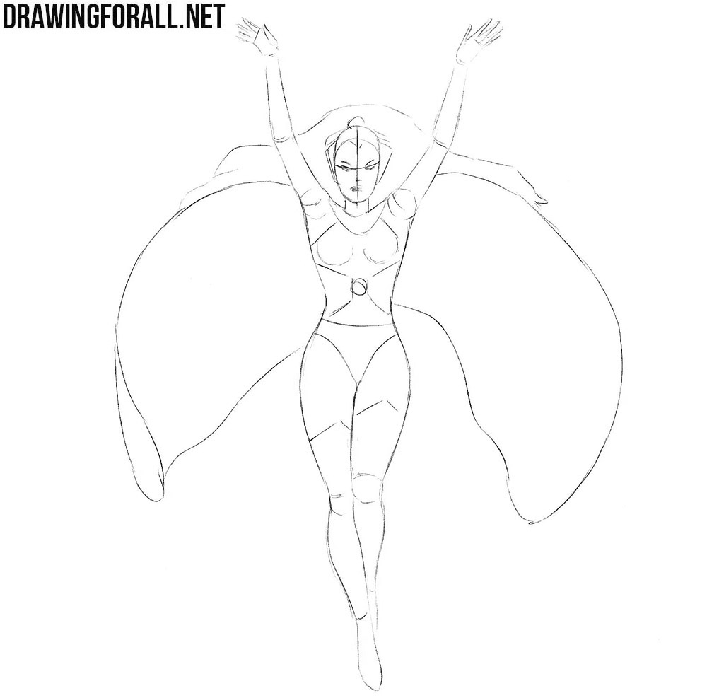 How to draw Storm from X Men