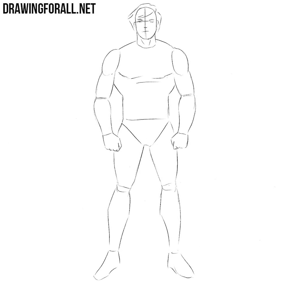 How to draw a superhero from Marvel