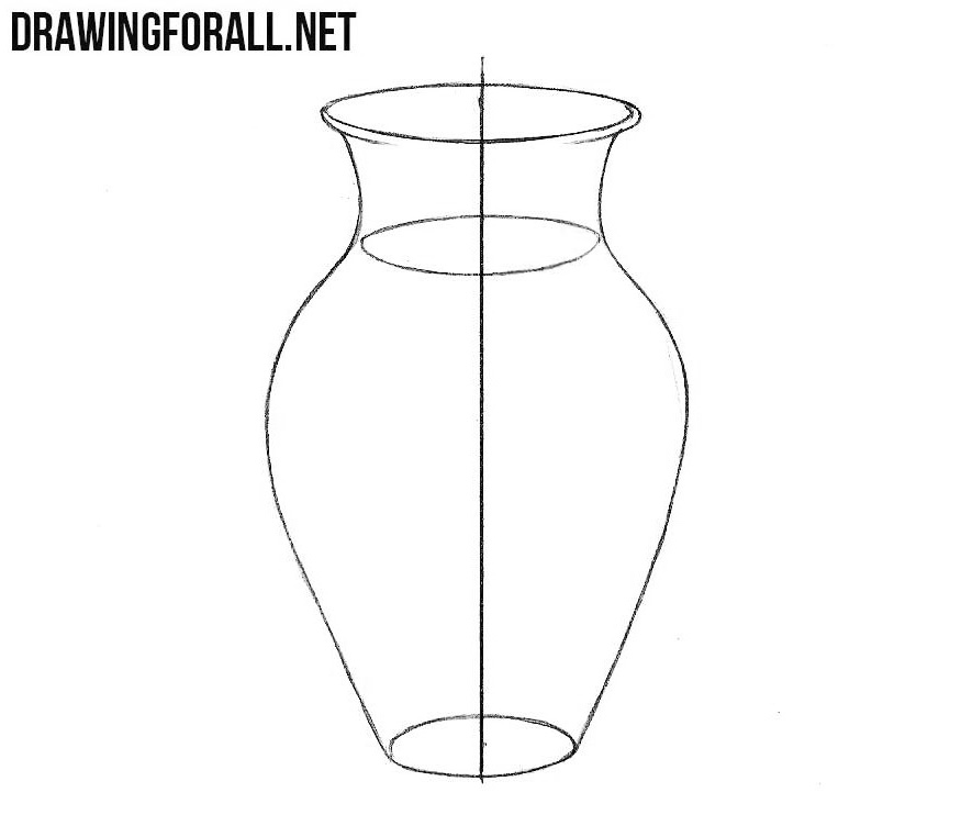 How to sketch a vase