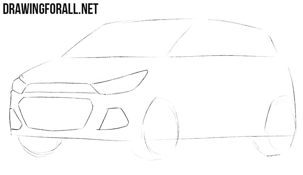 car drawing step by step