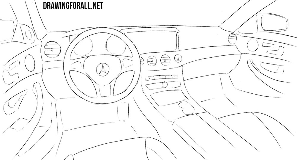 car interior drawing