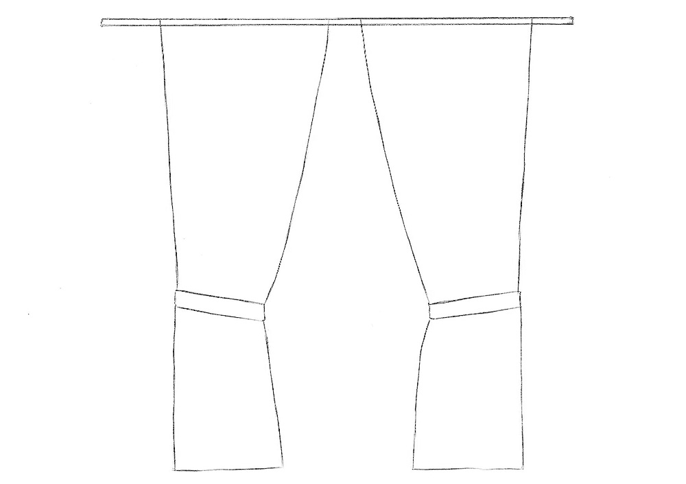 How to draw curtains drawingforall net