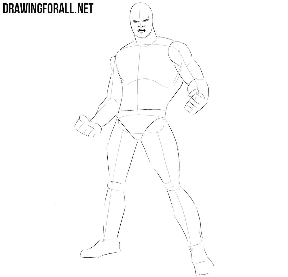how to draw Luke Cage from marvel