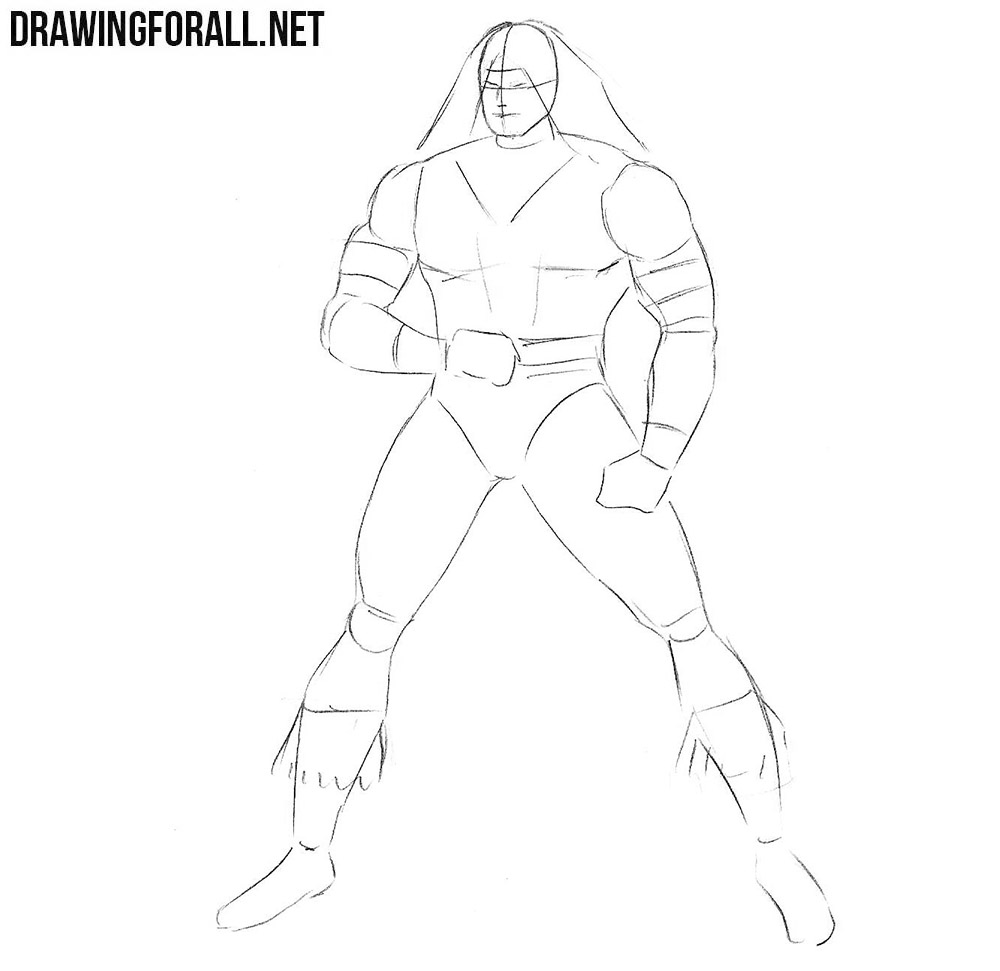 how to draw Warpath from marvel