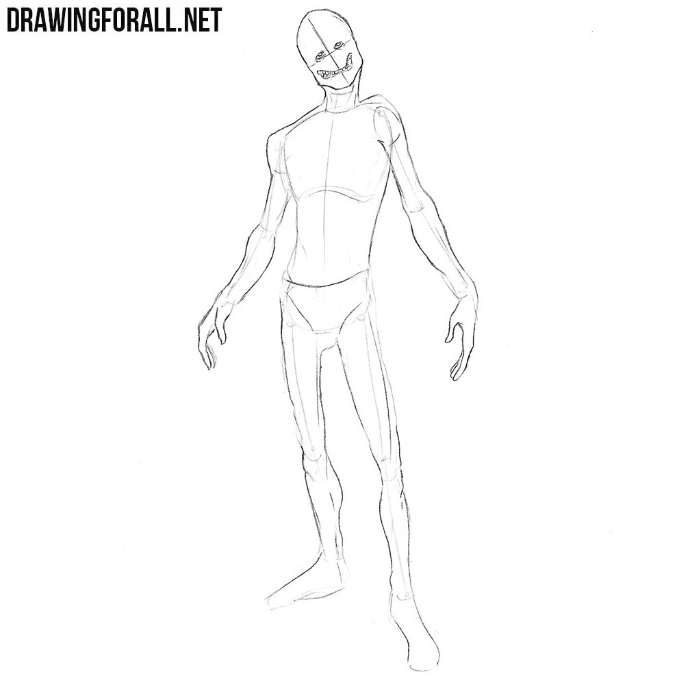 how to draw a ghoul from fallout