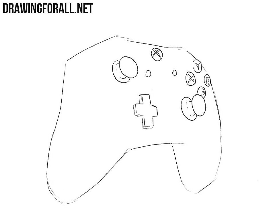 how to draw an xbox one controller