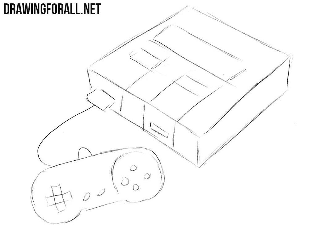 how to sketch a Super Nintendo