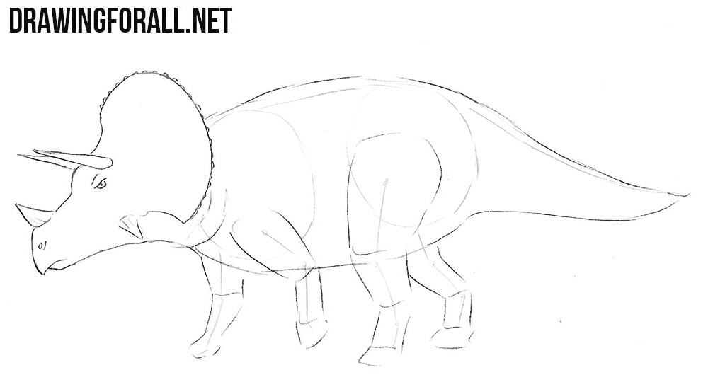 how to sketch a dinosaur
