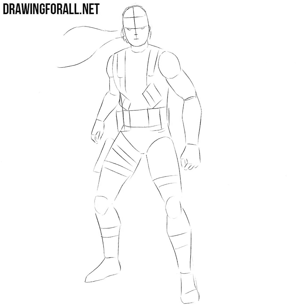 learn to draw Solid Snake