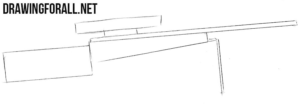 learn to draw a sniper rifle