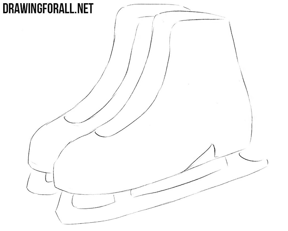 learn to draw ice skates