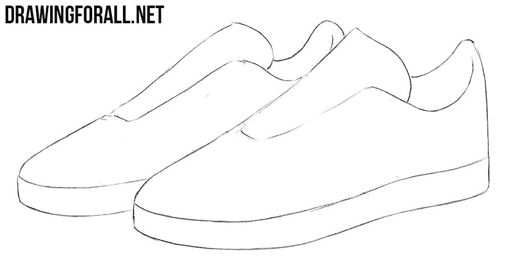learn to draw sneakers step by step