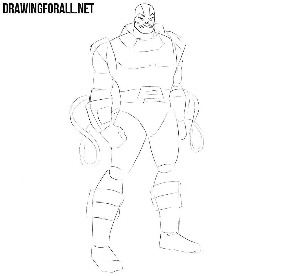 How to Draw Apocalypse from Marvel | DrawingForAll.net