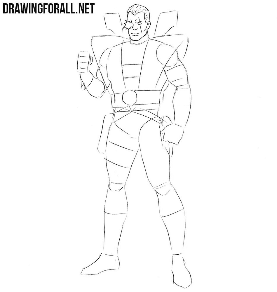 How to draw Cable X Men