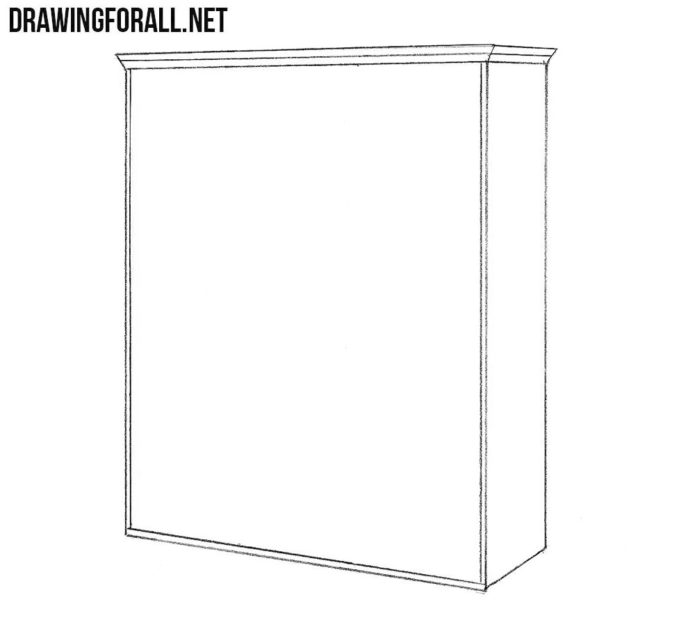 How to draw Cupboard step by step