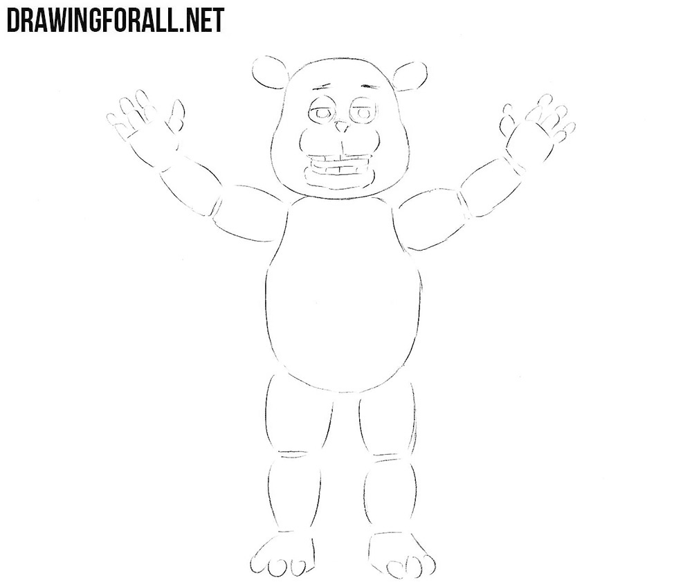 How to draw Freddy Fazbear from