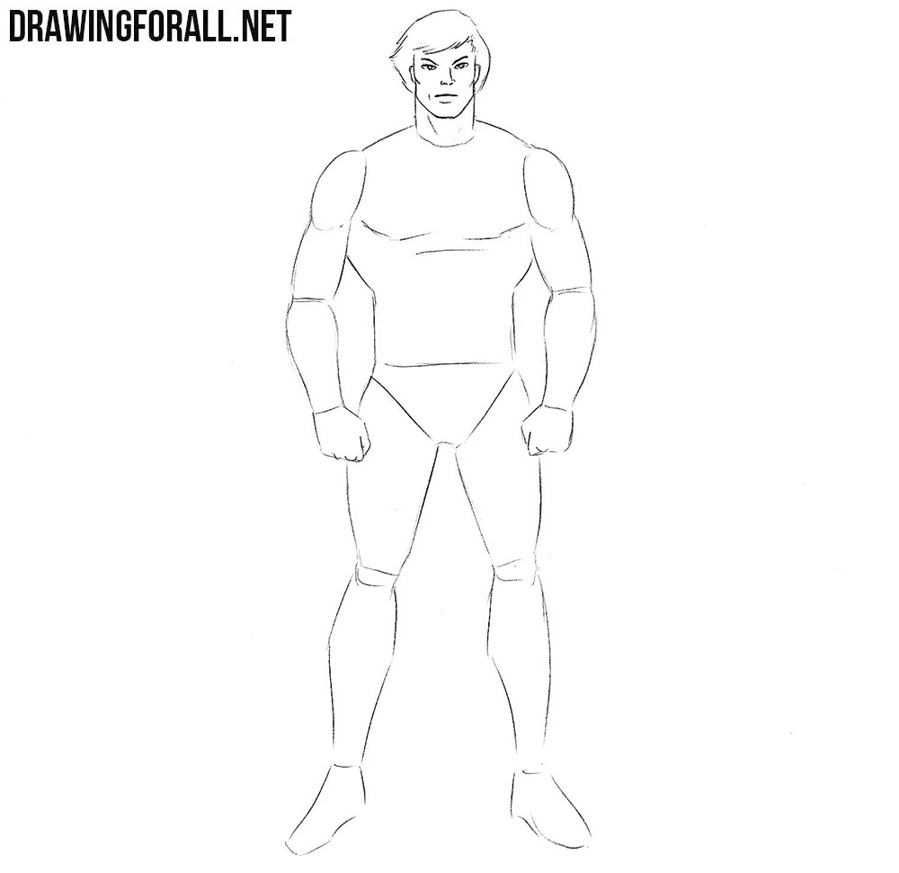 How to draw a hero step by step