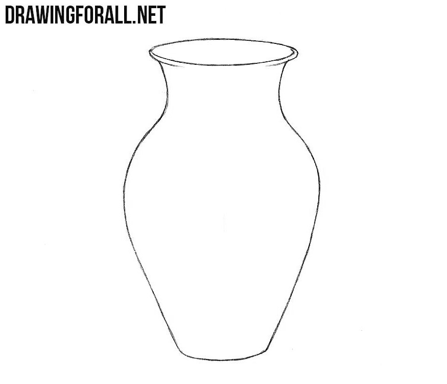 Line Drawing Vase : How to draw a vase drawingforall