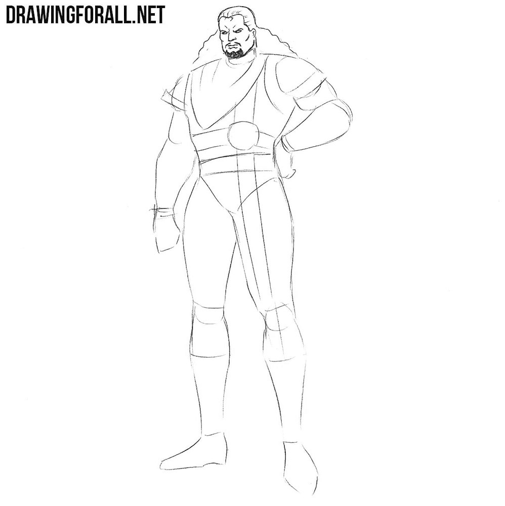 how to draw Bishop from marvel