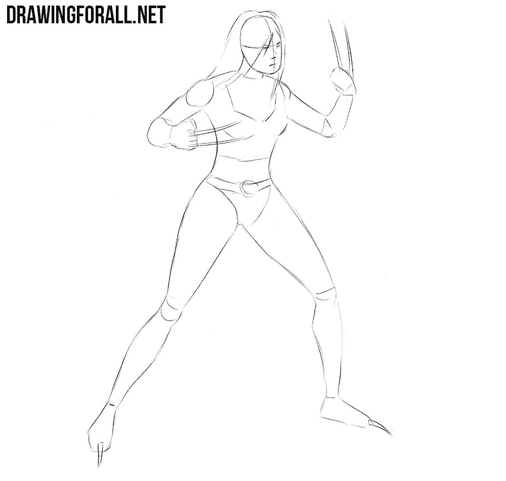 how to draw Laura Kinney