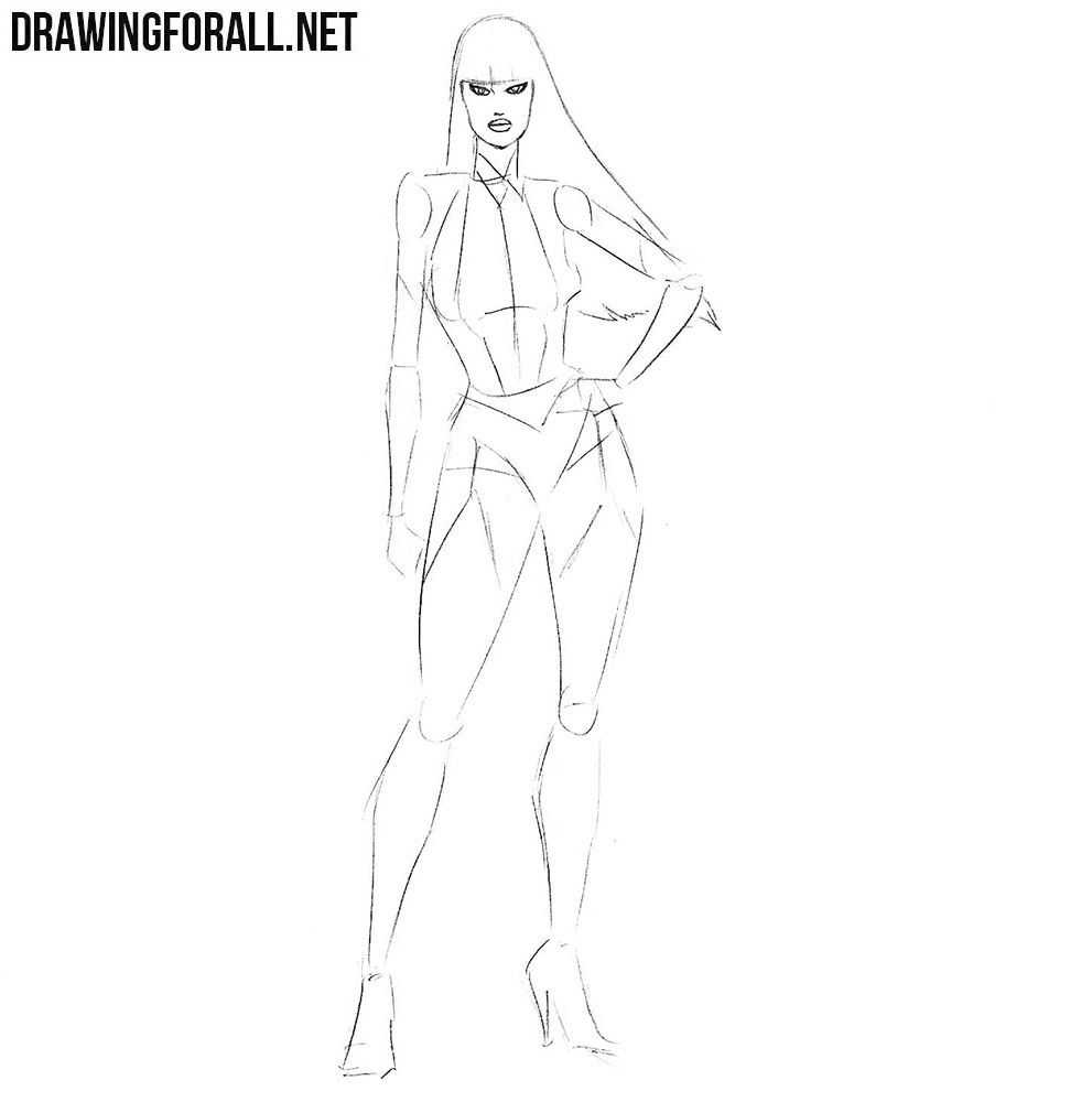 how to draw Silk Spectre step by step