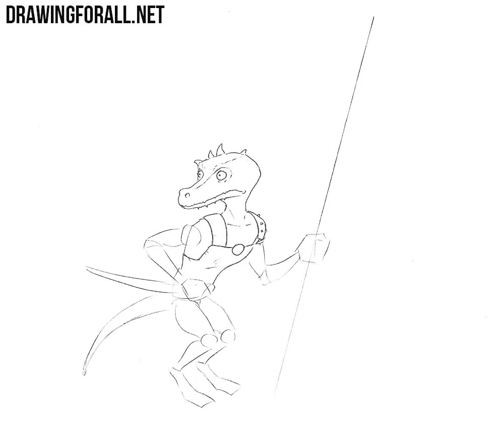 how to draw a Kobold from DND