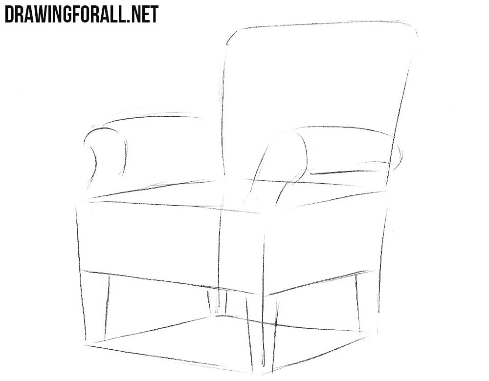 How to Draw an Armchair | Drawingforall.net