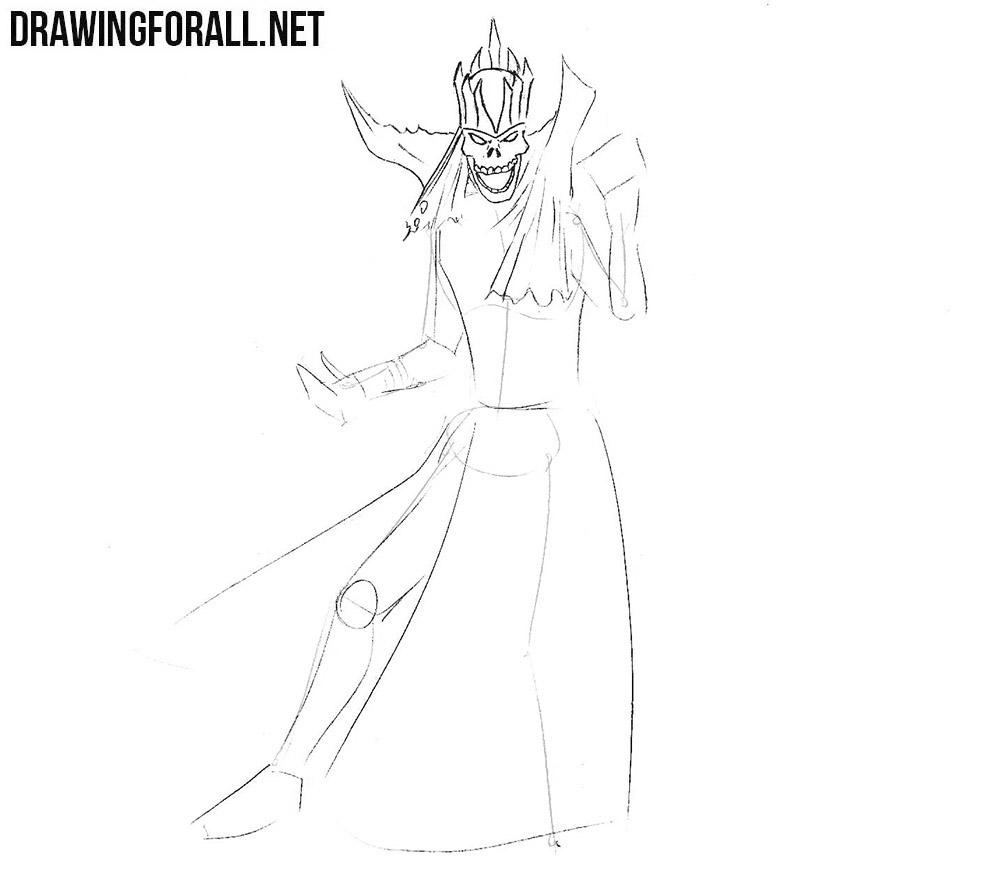 how to draw a lich from dungeons and dragons