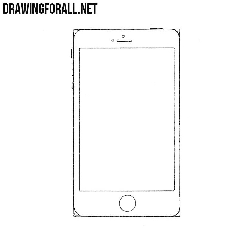 how to draw an iphone for beginners