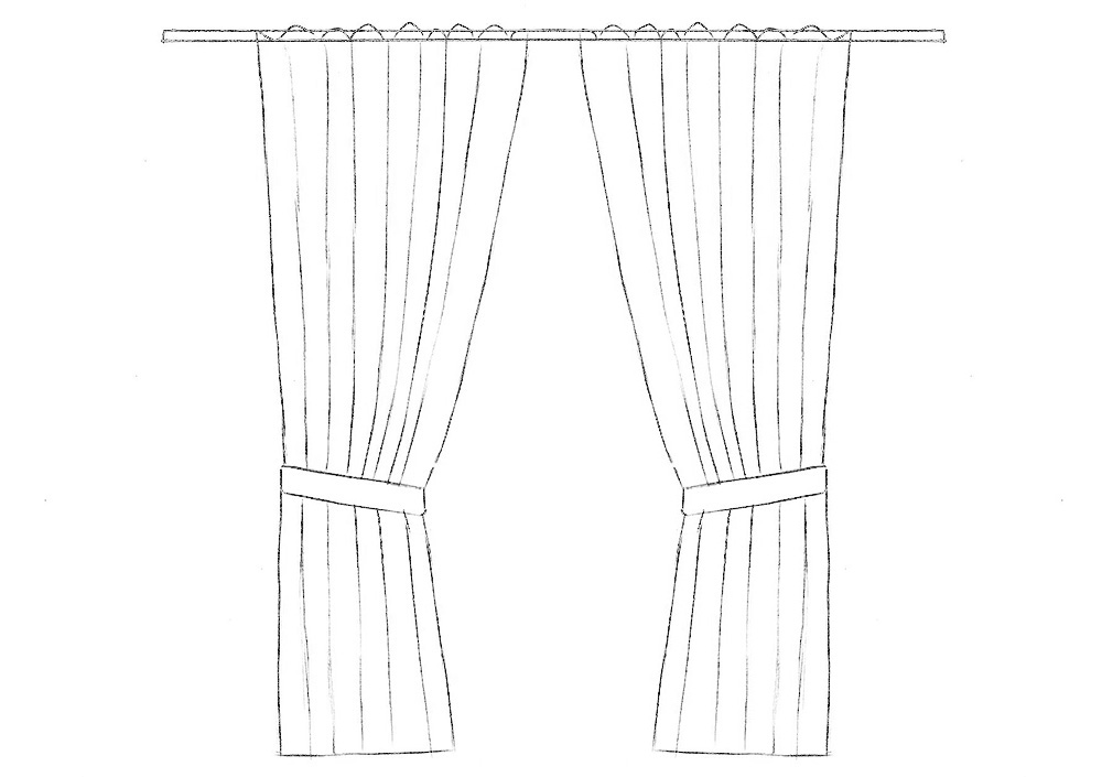 how to draw curtains