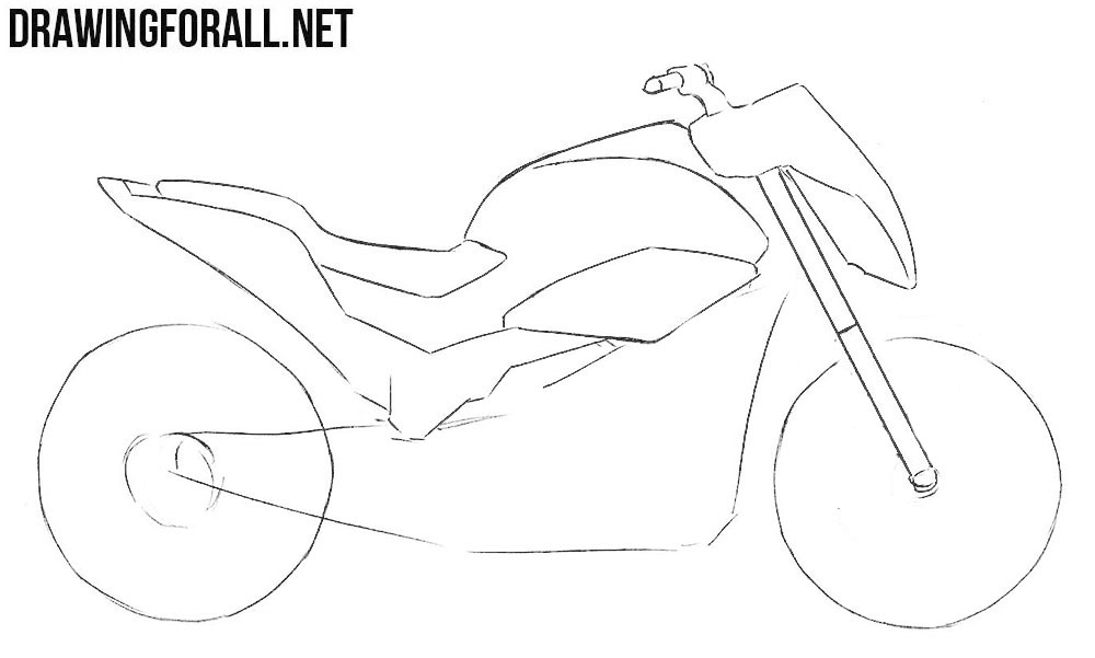 how to sketch a motorcycle